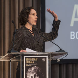 Board President Marie-Louise Stegall at HB Studio's Uta Hagen at 100 Gala
