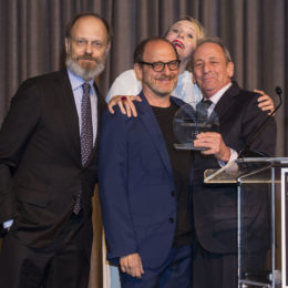 David Hyde Pierce, Lonny Price, Katie Finneran and Alexander Bernstein at HB Studio's Uta Hagen at 100 Gala