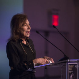 Elaine May introduces Marlo Thomas at HB Studio's Uta Hagen at 100 Gala