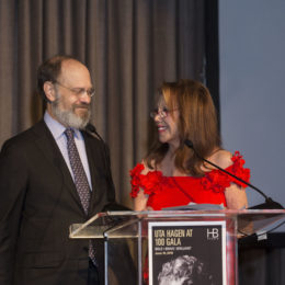 Marlo Thomas and David Hyde Pierce at HB Studio's Uta Hagen at 100 Gala