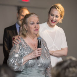 Katie Finneran with Uta Hagen's daughter at HB Studio's Uta Hagen at 100 Gala