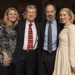 Richard Mawe and David Hyde Pierce with Mawe family at the Uta Hagen at 100 Gala